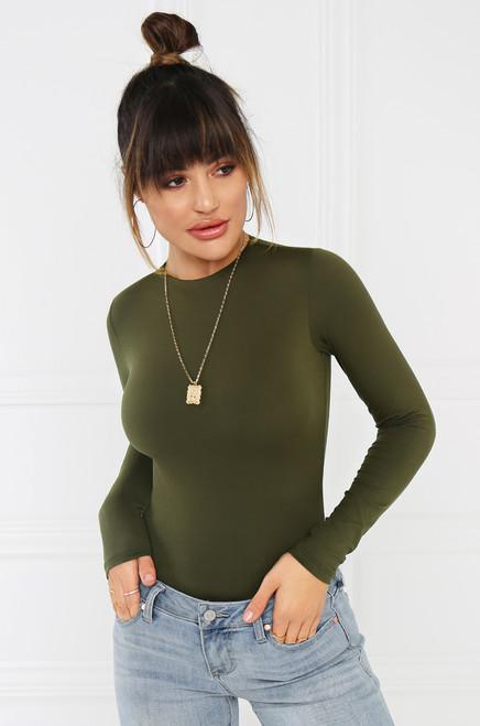 No Complaints Bodysuit - Olive