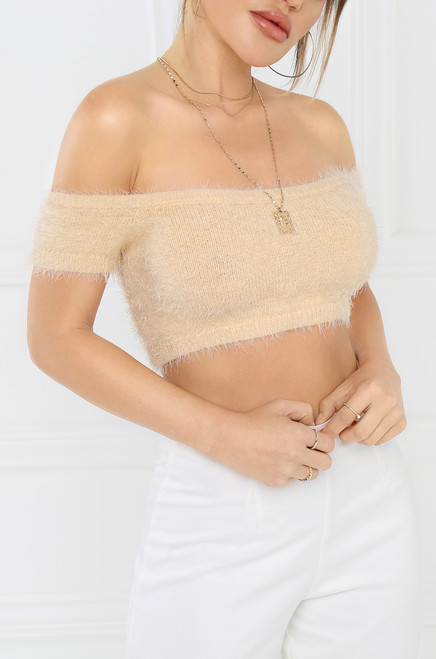 Fuzzy Love Top - Ivory