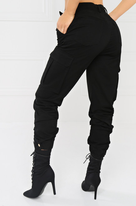 Take It Easy Cargo Pant - Black