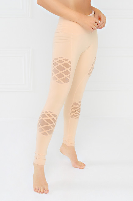 Feel The Burn Legging - Nude