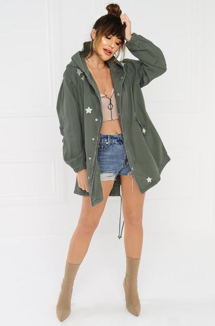 Star-Crossed Lover Jacket - Olive