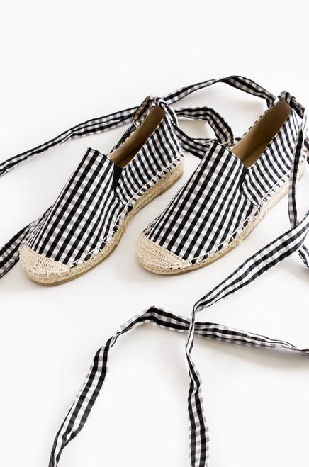 Oceanside Slip-On - Black & White Gingham