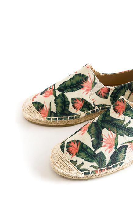 Oceanside Slip-On - Green Floral