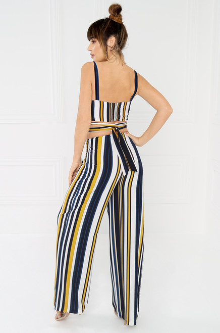 Foreign Affair Trouser - Navy Stripe