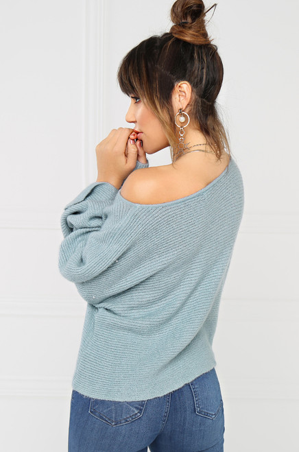 Close To Me Sweater - Baby Blue