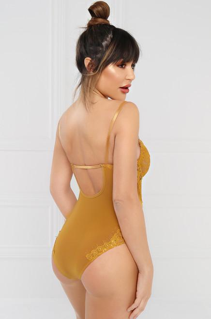 Risqué Bodysuit - Mustard
