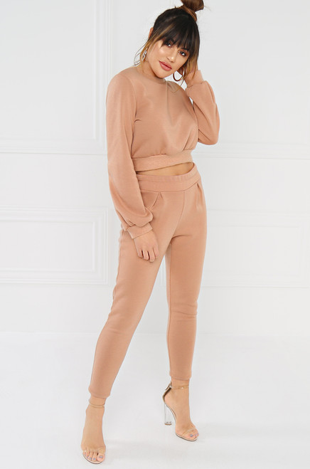Get Hyped Crop Sweater - Blush