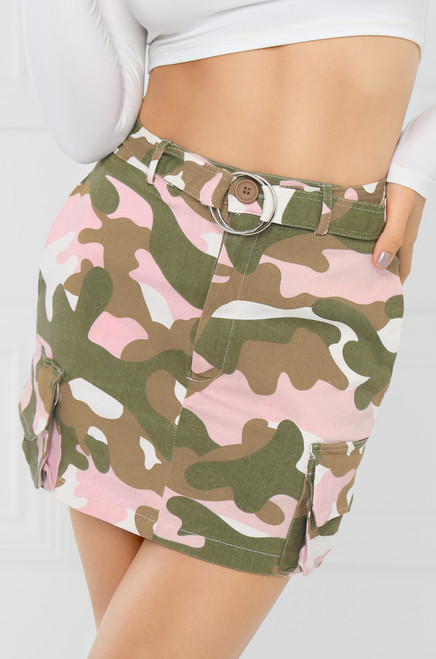 Come & Get It Skirt - Pink Camo