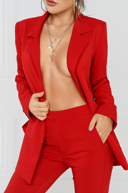 City-Born Blazer - Red