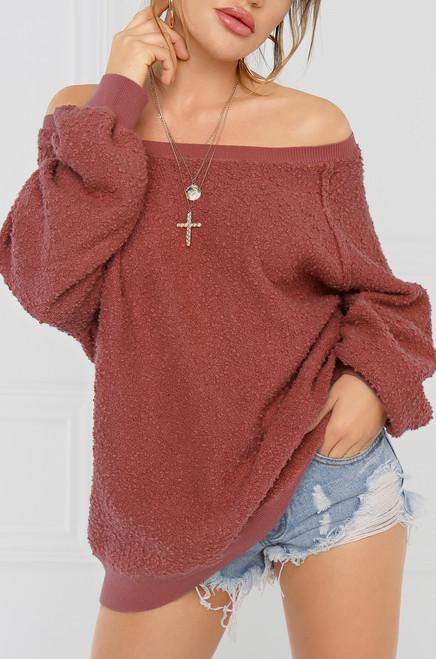 Sweet on Me  Sweater - Mauve