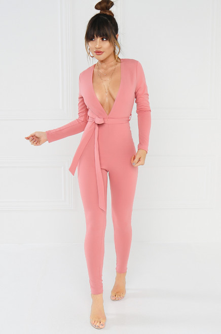 Seduce & Enjoy Jumpsuit - Blush