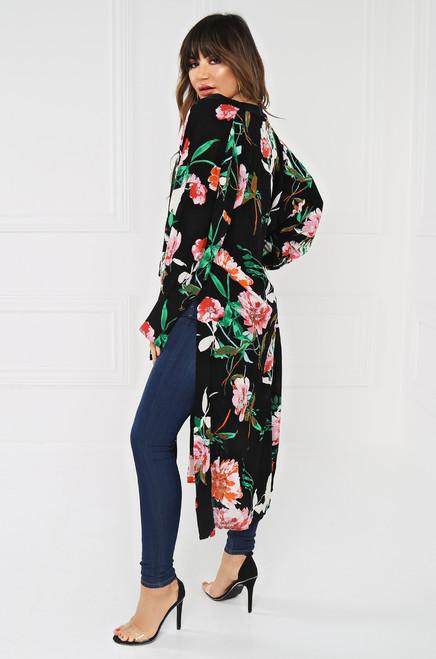 Dim Sum Lights Kimono - Black