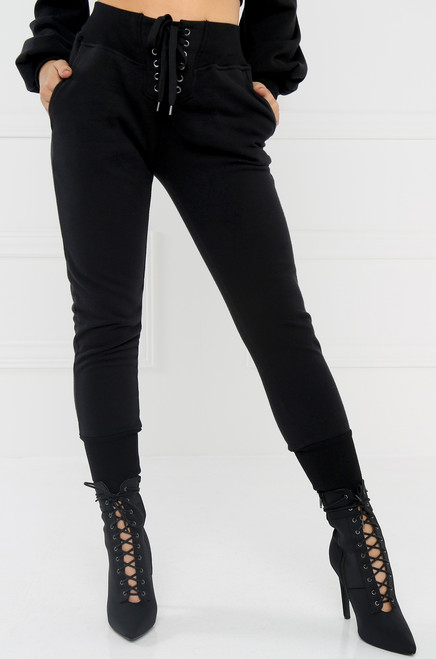 All-Star Crop Jogger Pant - Black