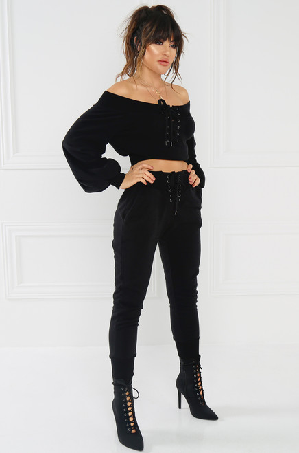 All-Star Crop Sweatshirt - Black