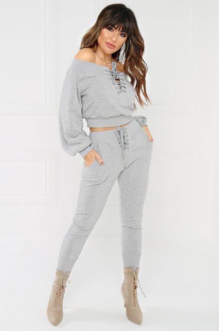 All-Star Crop Sweater - Grey