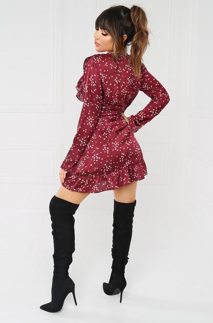 Let The Stars Align Dress - Wine