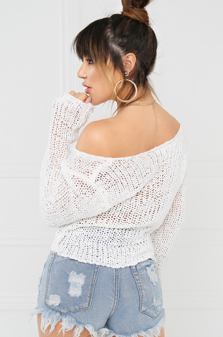 Loose Control Sweater - White