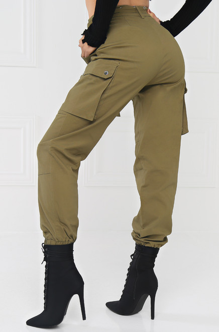 Style & Go Cargo Jogger Pant - Light Olive