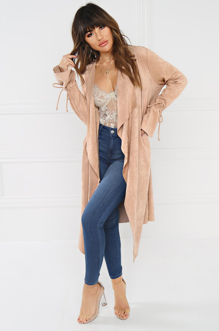 Talk About Me Trench - Nude