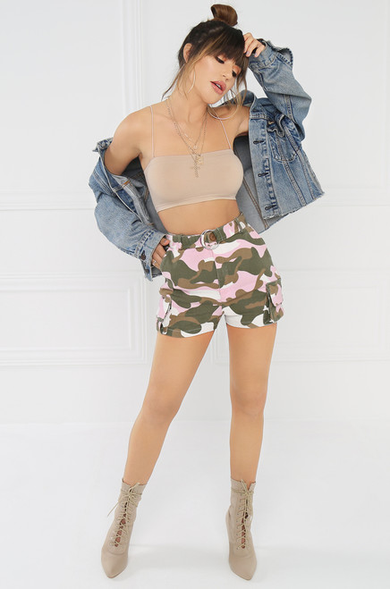 Easy Does It Shorts - Pink Camo