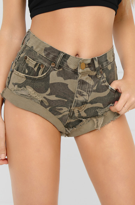 Rough & Raw Shorts - Camouflage