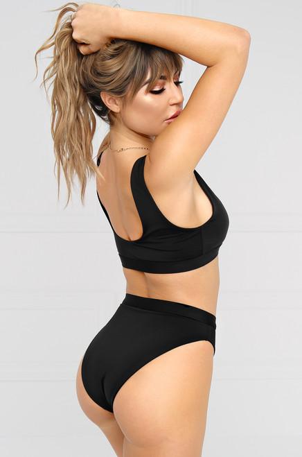 New Wave Bikini Bottom - Black