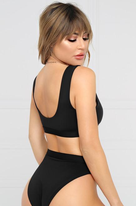 New Wave Bikini Top - Black