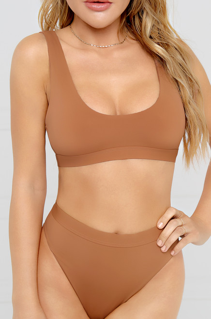 New Wave Bikini Top - Desert Sand
