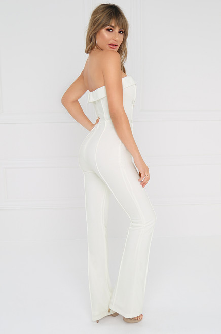 Slow Motion Jumpsuit - White