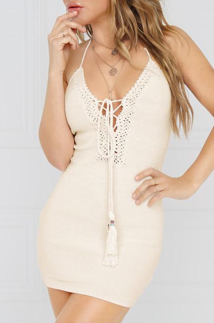 Free Bird Crochet Dress - Ivory