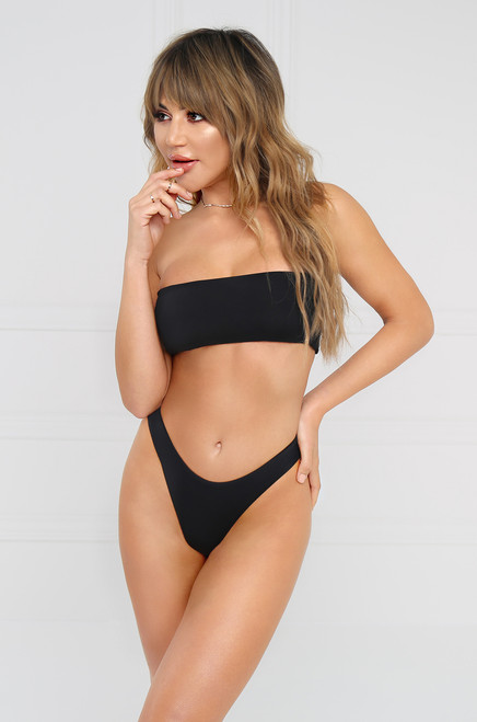 Slow Dive Bandeau Top - Black