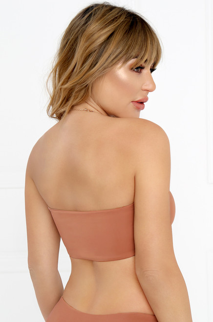 Slow Dive Bandeau Top - Mauve