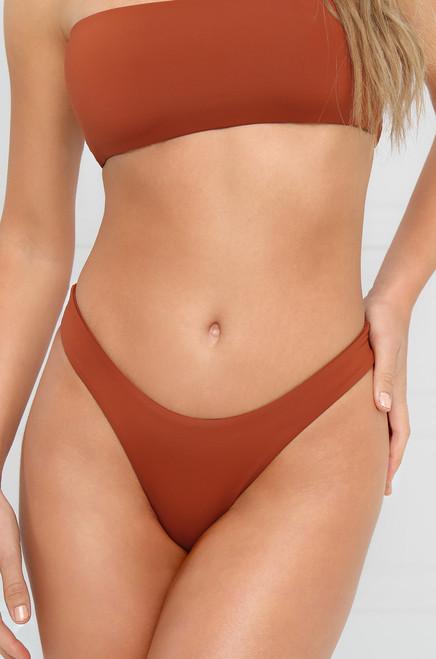 Slow Dive Bikini Bottom - Rust