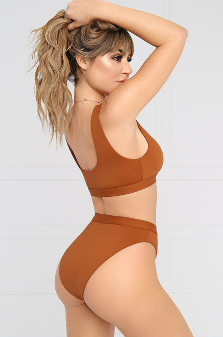 New Wave Bikini Bottom - Rust