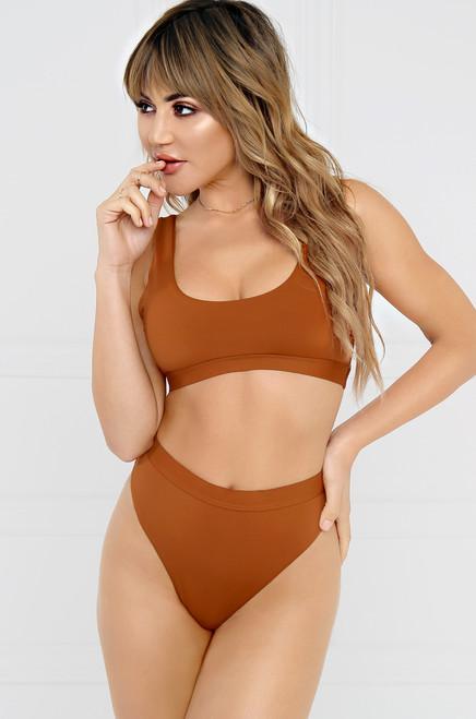 New Wave Bikini Bottom - Rust