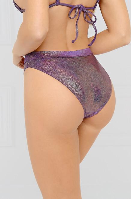Mirage Bikini Bottom - Purple Glitz
