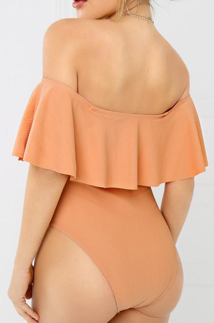Cast Away Swimsuit - Peach