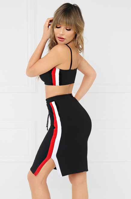 First Pick Track Skirt - Black