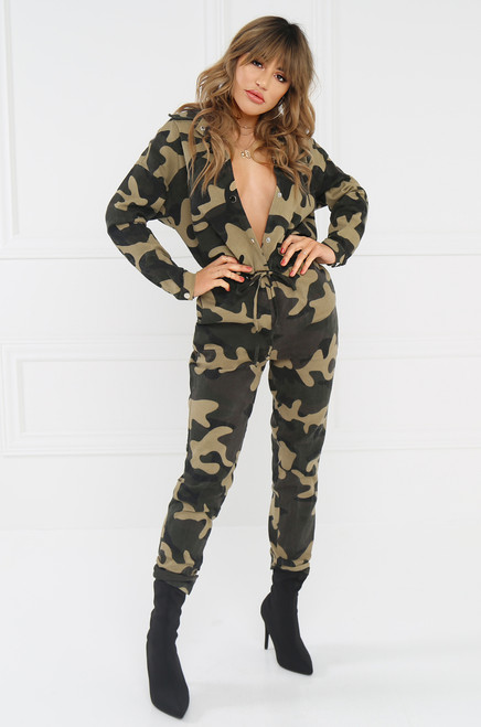 Wild World Jumpsuit - Camouflage