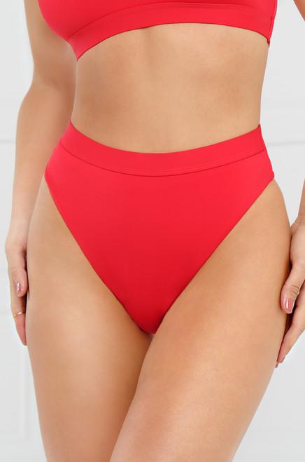 New Wave Bikini Bottom - Red