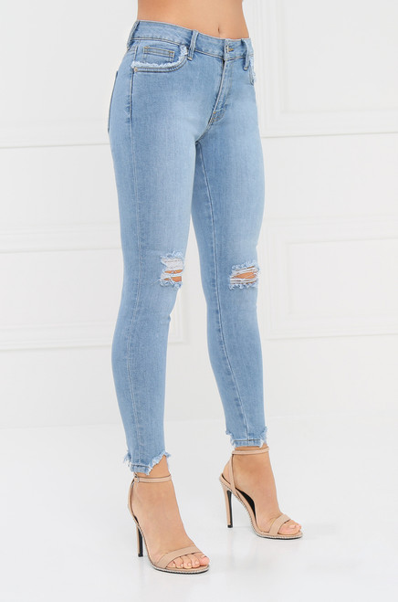 Out of Towner Jean - Light Wash Denim