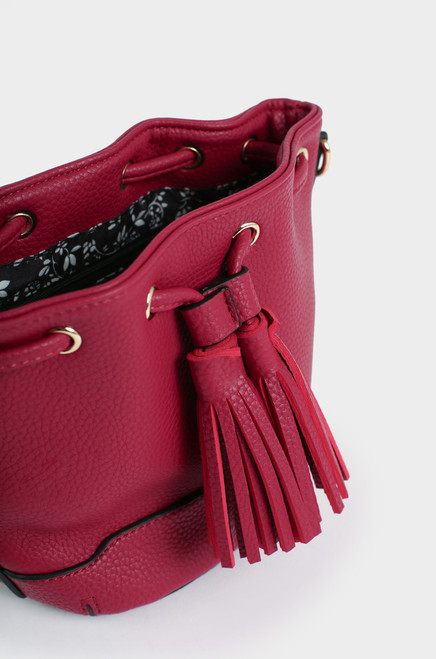 Monaco Bucket Bag - Maroon