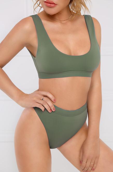 New Wave Bikini Top - Light Olive
