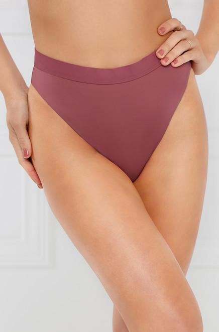 New Wave Bikini Bottom - Dark Mauve