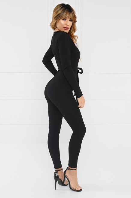Seduce & Enjoy Jumpsuit - Black