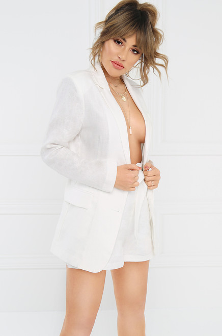 Run The World Blazer - White