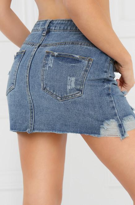 Runaway Jean Skirt - Light Wash Denim