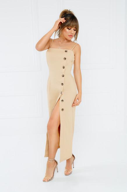 True To You Dress - Nude