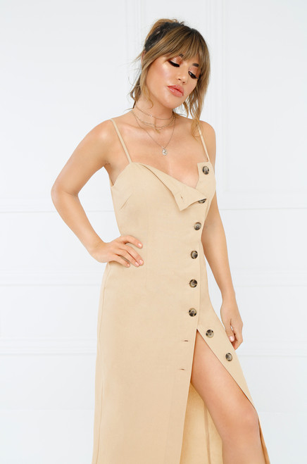 True To You Dress - Nude