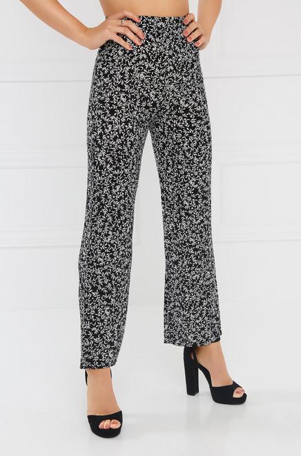 Double Vision Pant - Black Floral